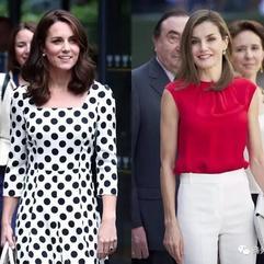 凱特王妃vs西班牙王后第一次正面交鋒,儀態、氣場輸了